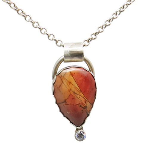 Red Creek Jasper and Sterling Pendant. Enchanted Woodland Collection