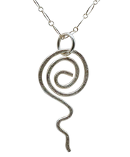 "Load image into Gallery viewer, Fine Silver Pendant. Sacred Spiral Collection 2"" long."
