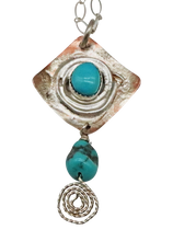 Load image into Gallery viewer, NATURAL TURQUOISE PENDANT