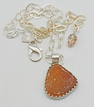 Load image into Gallery viewer, druzy pendant shown with full silver chain