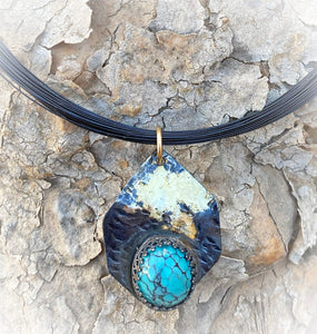 golden steel and turquoise