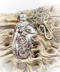 sacred spiral one of a kind pendant