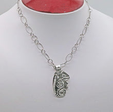 Load image into Gallery viewer, Spiral pendant shown on bust