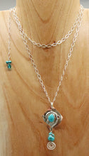 Load image into Gallery viewer, turquoise  PENDANT WORN DOUBLED UP