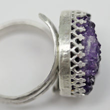 Load image into Gallery viewer, purple gemstone ring from Uruguay