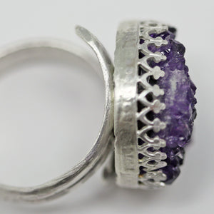 purple gemstone ring from Uruguay