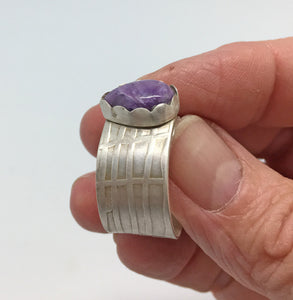 purple gemstone ring handmade in Arizona