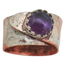 Load image into Gallery viewer, February birthstone ring. Purple amethyst ring