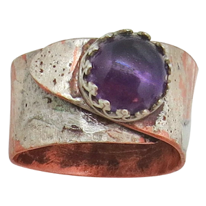 February birthstone ring. Purple amethyst ring