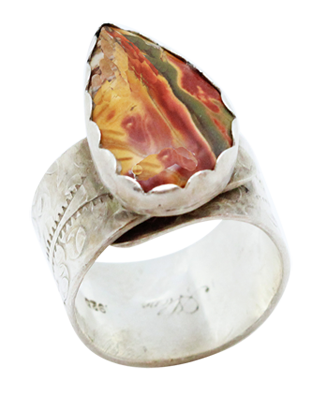 red creek jasper sterling artisan ring