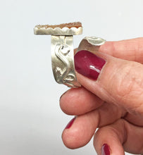 Load image into Gallery viewer, sterling ring shown from side to highlight the design