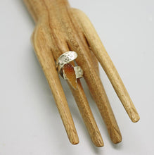 Load image into Gallery viewer, handmade in Arizona sterling ring shown on hand