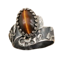 Load image into Gallery viewer, antiqued silver gemstone ring