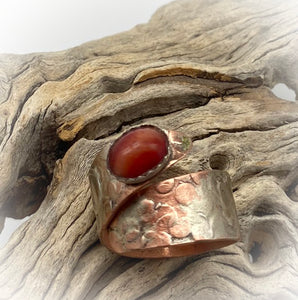 Copper, Sterling and Tiger's Eye Ring. Dare to Dream Collection. Size 8 1/2-9