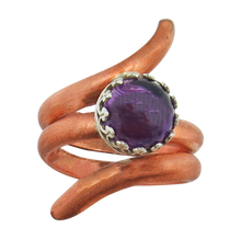 Load image into Gallery viewer, february birthstone ring. handmade in Arizona