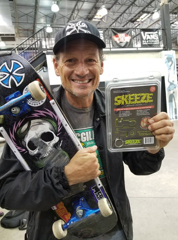 Mike McGill and SKEEZE skateboarding tool