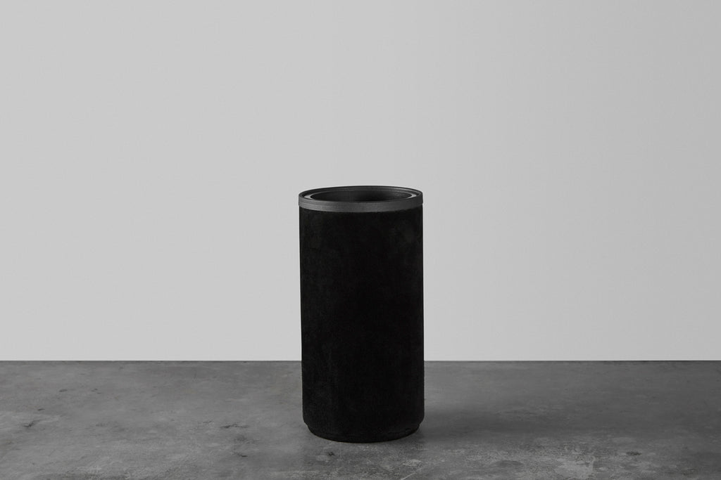 Black rough vase