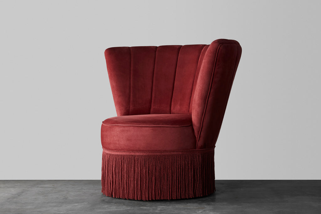 Salon fringe chair