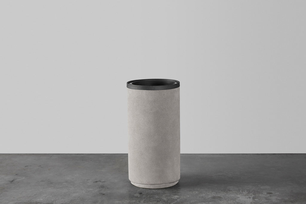 Light grey rough vase