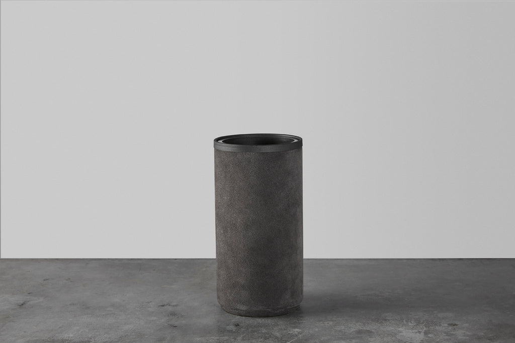 Dark grey rough vase