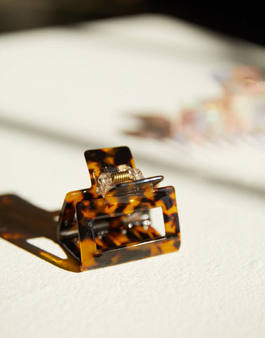 Tortoise Shell Mini Claw Clip