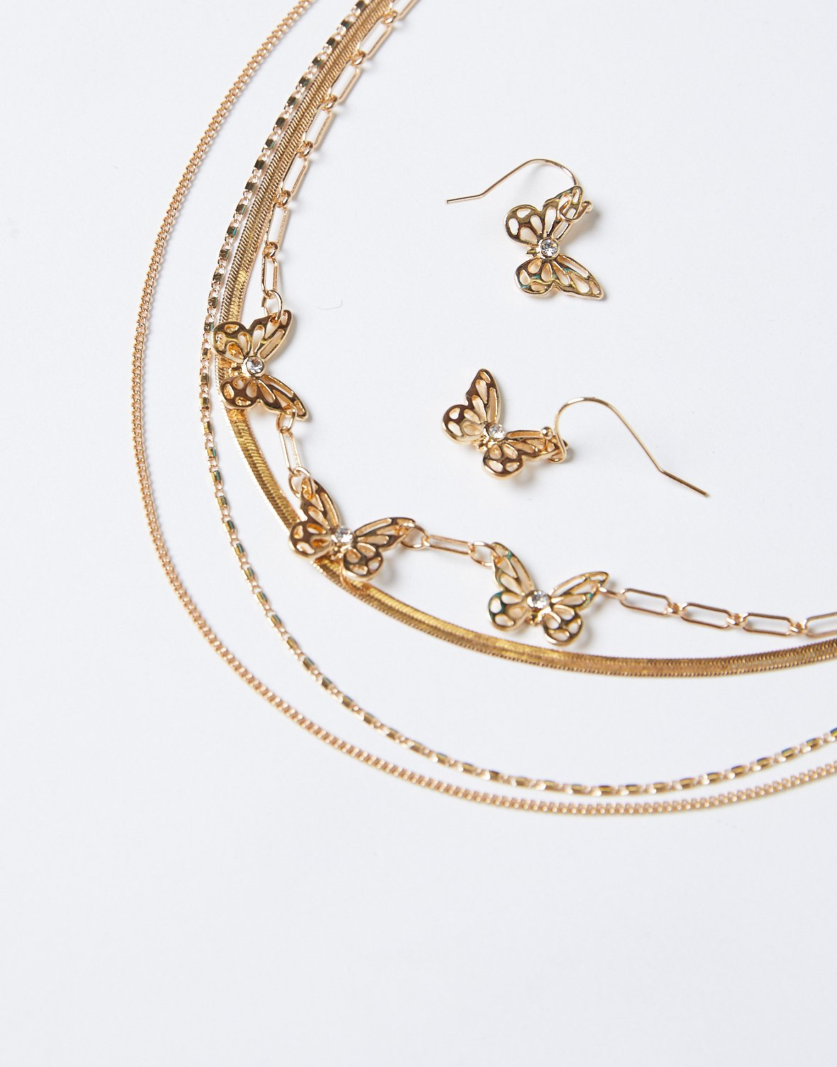 Alexandra Layered Necklace and Earrings Set