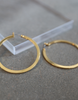 Cannes Flat Hoop Earrings