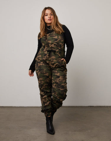 Curve Camouflage Overalls