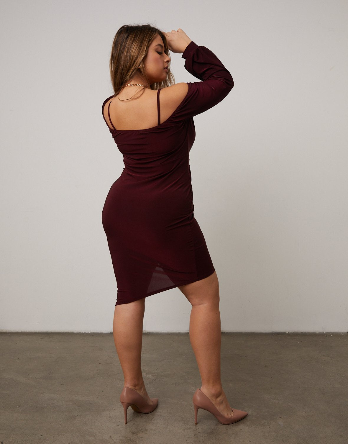 Curve Cold Shoulder Twist Dress