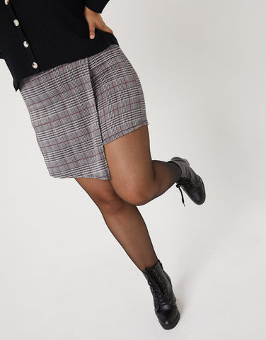 Curve Plaid Skort