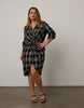 Curve Plaid Button Down Dress