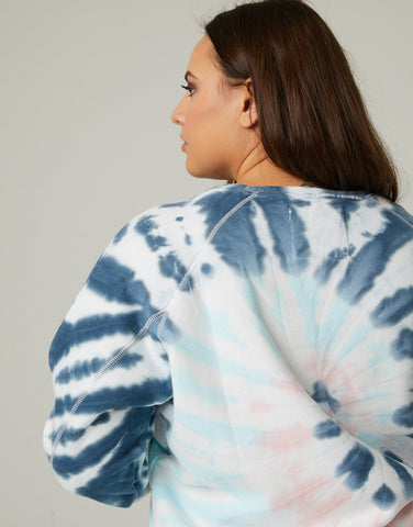 Curve Tie Dye Fleece Sweatshirt
