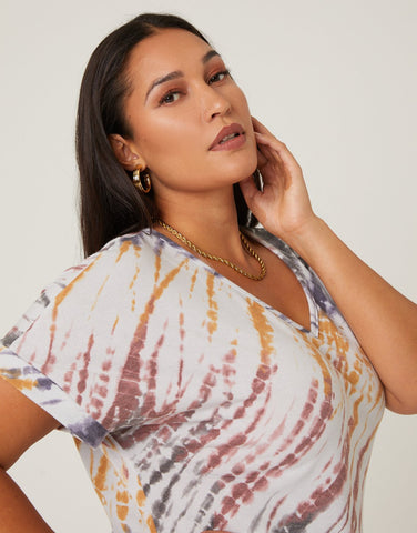 Curve Tie Dye T-Shirt Dress