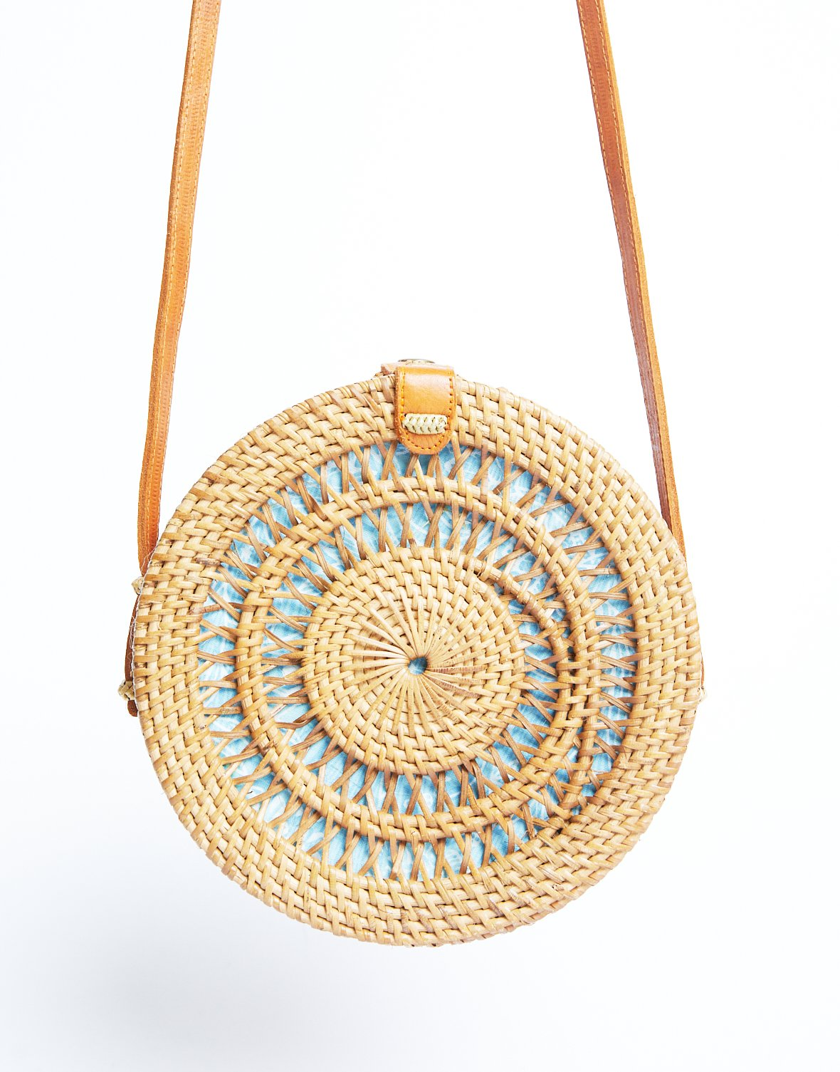 Near and Far Round Straw Bag