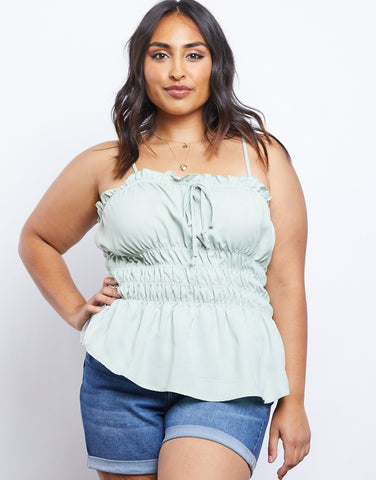Curve Amber Smocked Tank