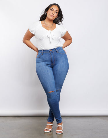 Curve Arie High Rise Skinny Jeans