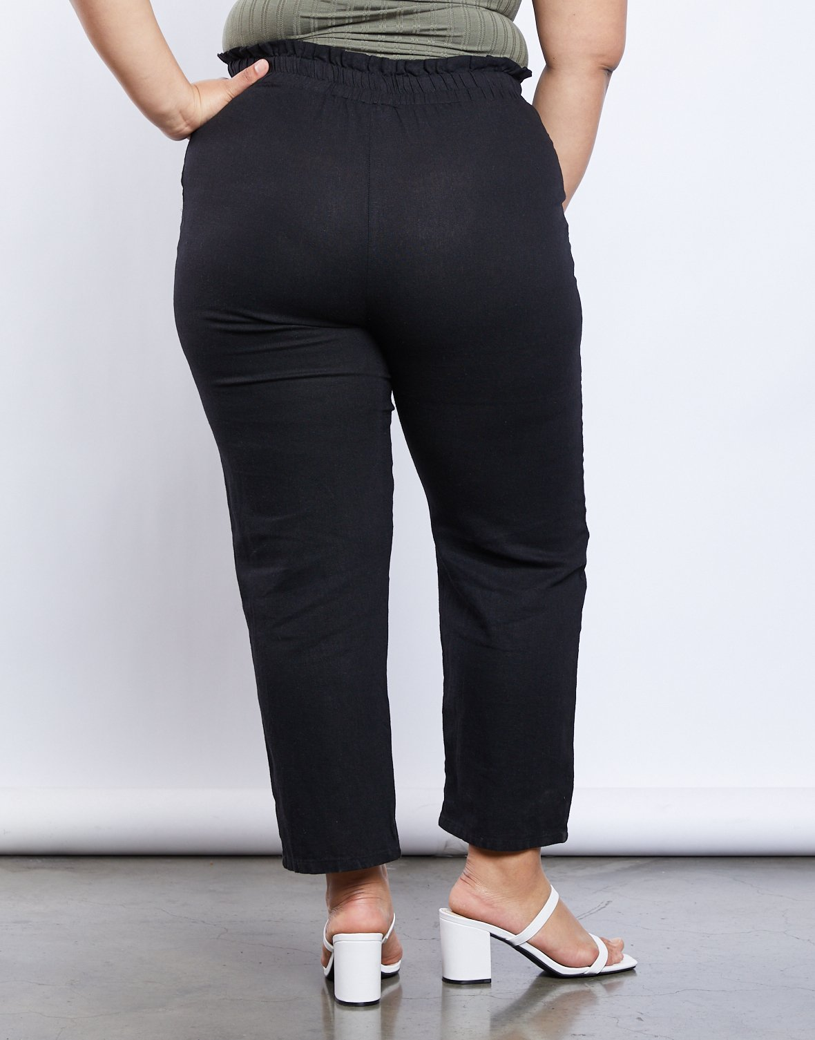 Curve Cambrie Paper Bag Pants