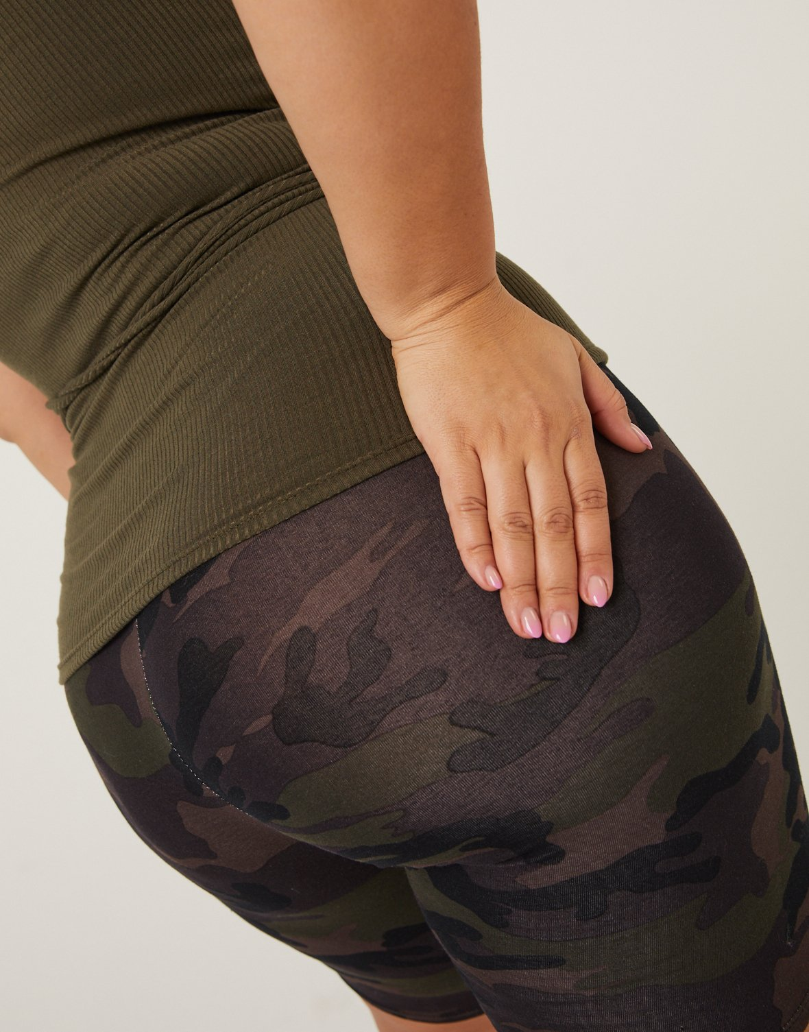 Curve Camouflage Bike Shorts