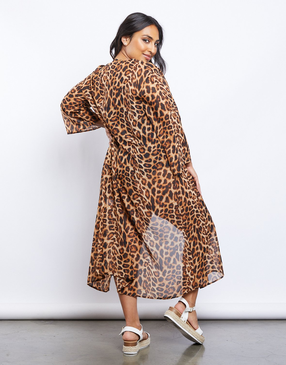 Curve Diva Cheetah Duster