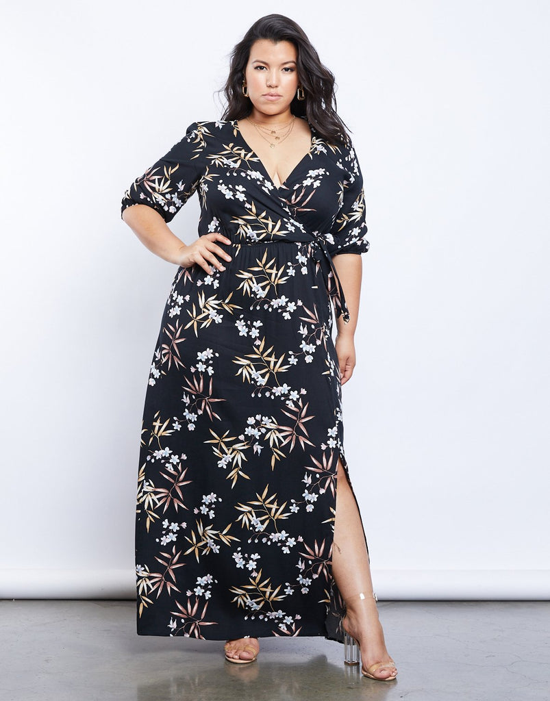 Curve Floral Dreams Wrap Dress
