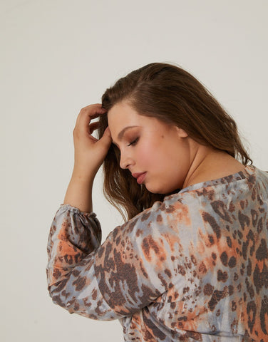 Curve Leopard Lounge Top