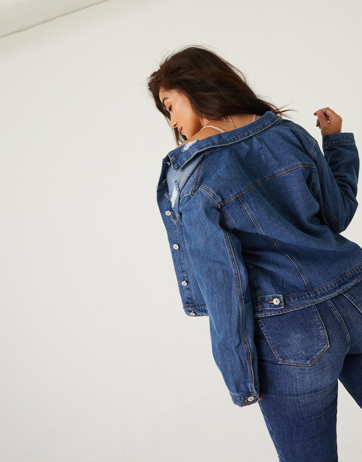 Curve Mesmerized Denim Jacket