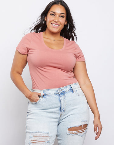 Curve Scoop Neck Tee