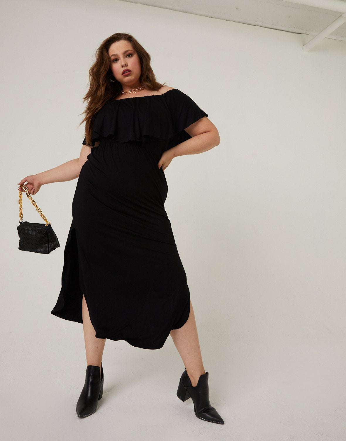 Curve Off-The-Shoulder Maxi Dress