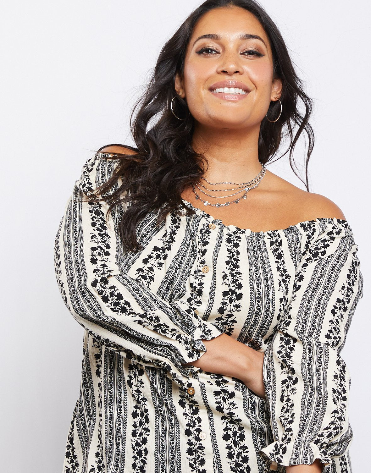 Curve Summer Dreams Striped Top