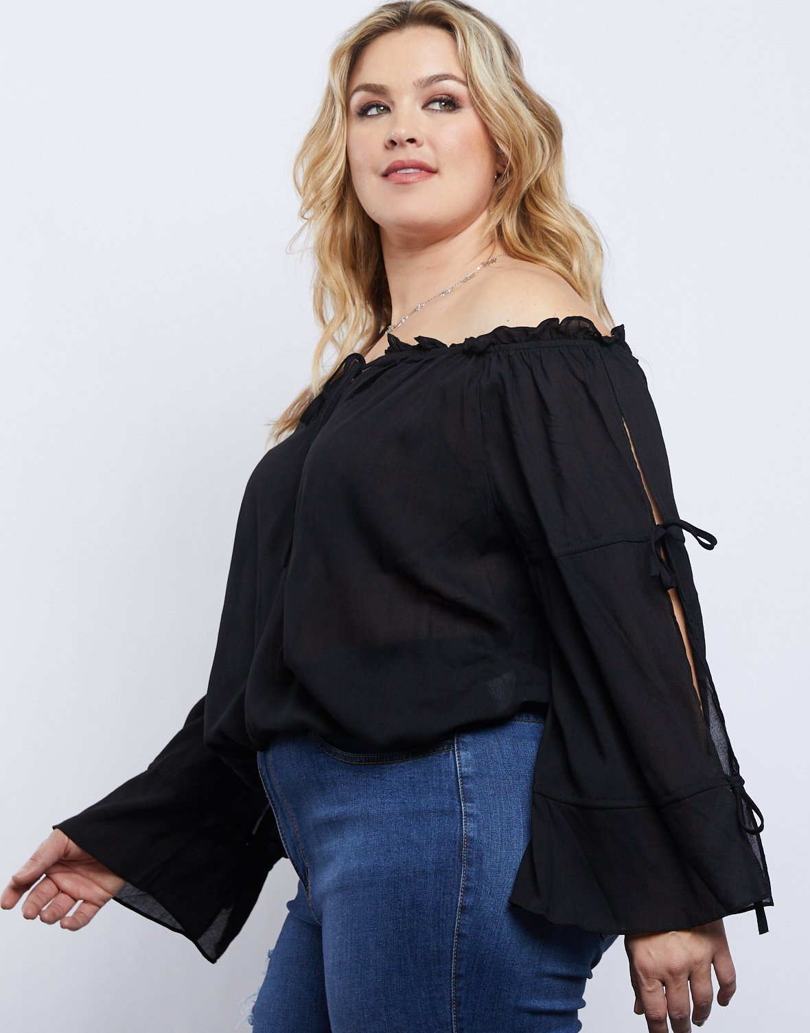 Curve Alana Long Sleeve Top