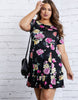 Curve Blissful Floral Dress