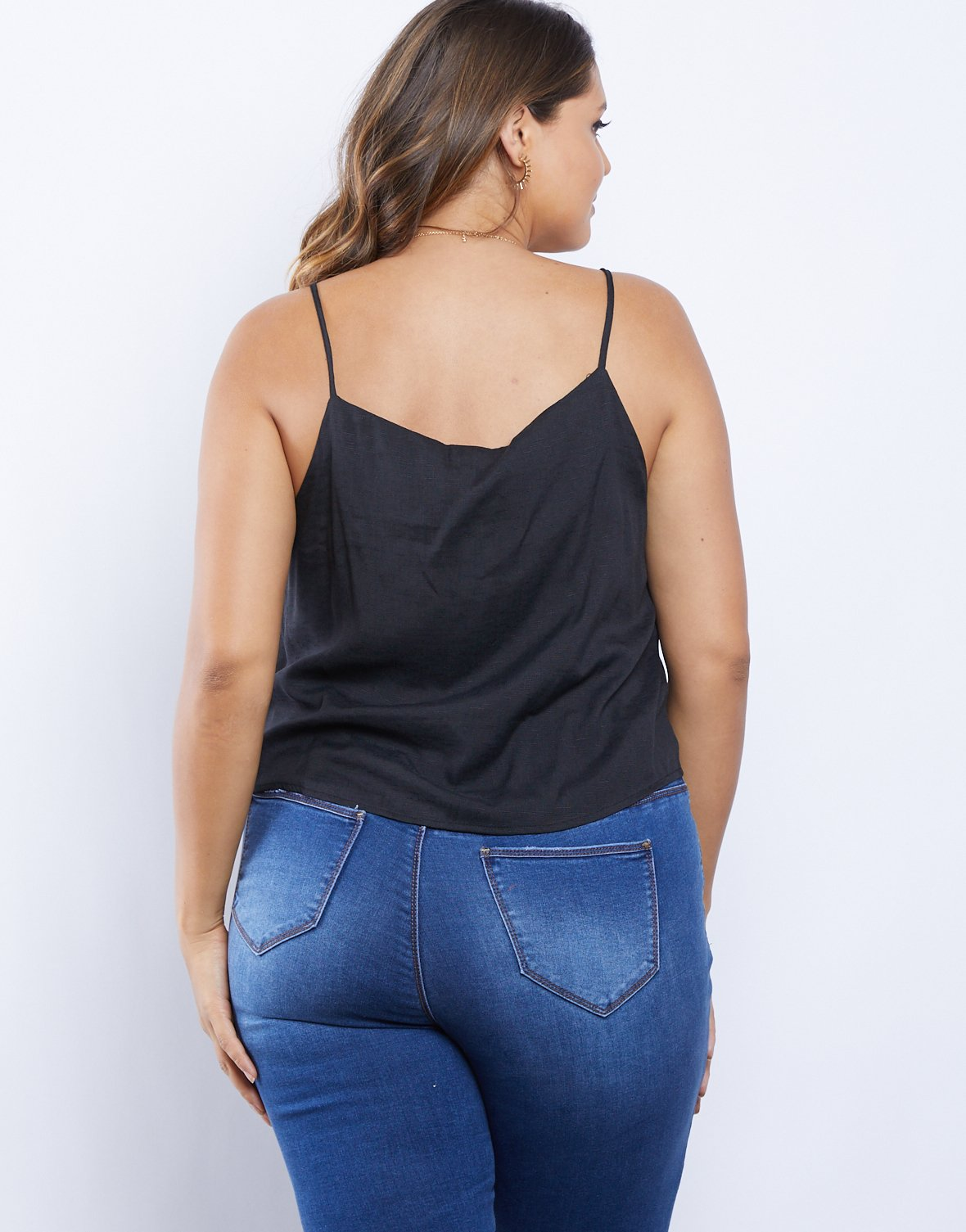 Curve Chill Girl Button Front Tank
