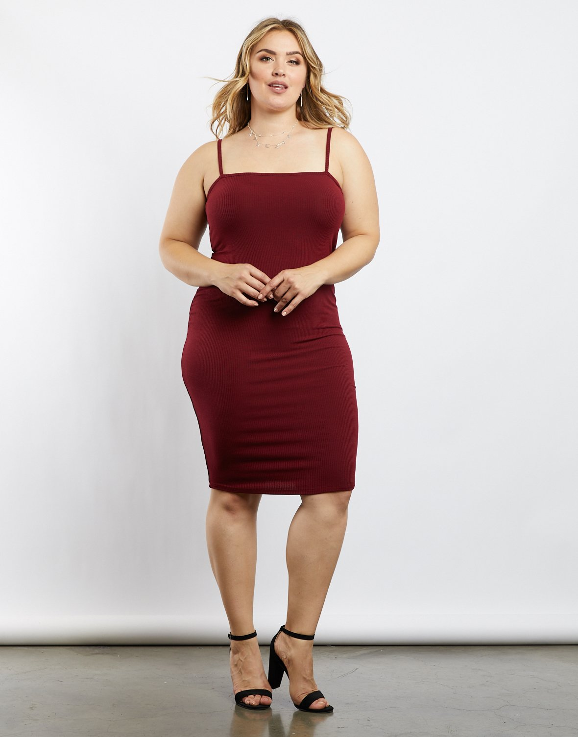d09a6bc5e5237 Plus Size Everyday Cami Bodycon Dress – Roses Fashion Online