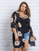Curve Fall Beauty Floral Cardigan